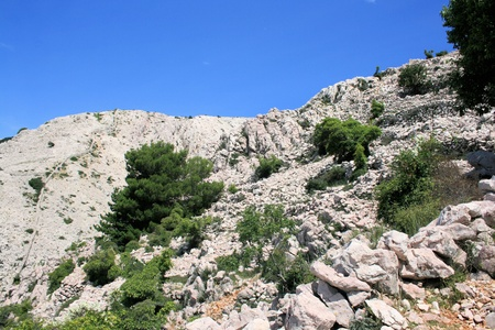 krk: hiking to Mala Luka ,Baska, island Krk, Croatia
