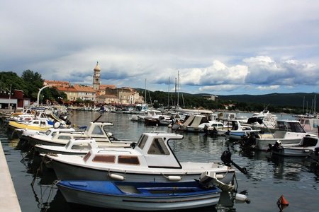 harbor of Krk, Croatia photo
