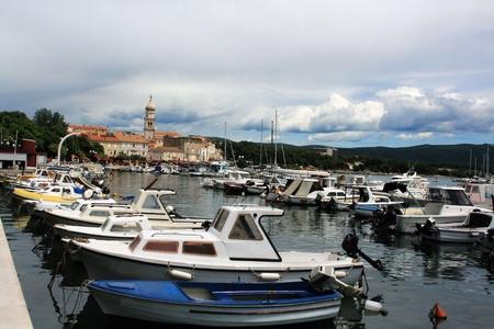 krk: harbor of Krk, Croatia