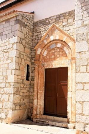 krk: church of Krk, Croatia Stock Photo