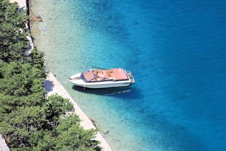 boat in Zavratnica bay,  near Jablanac, Croatia photo