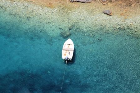 small boat in Zavratnica bay,  near Jablanac, Croatia
