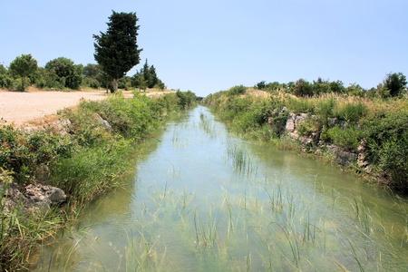 biking trail around Vransko jezero, near Zadar, Croatia photo