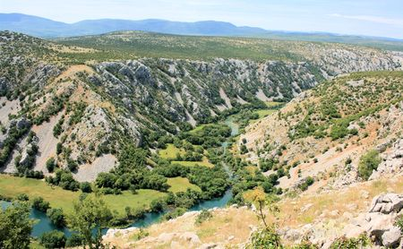 canyon Krupa river, Croatia photo