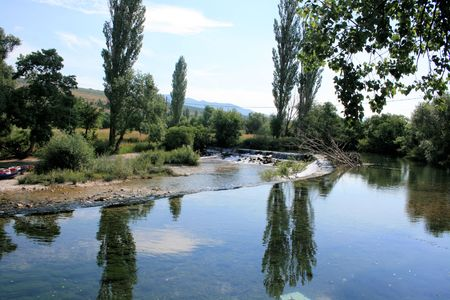 Zrmanja river, Kastel Zegarski, Croatia photo