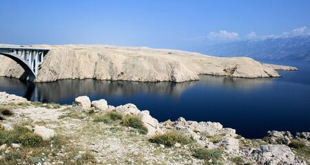 bridge to Pag, Croatia photo