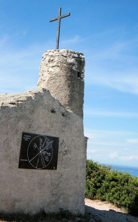 chappel: exploring the island Losinj, Croatia Stock Photo
