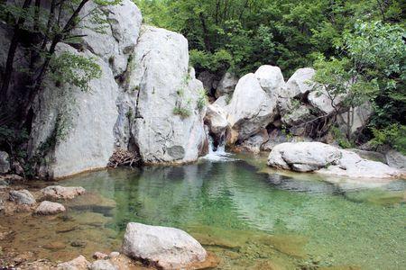 paklenica: mountain river National park Paklenica, Croatia Stock Photo