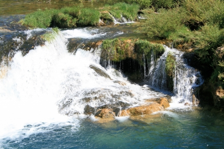 waterfall near Muskovci on Zrmanja river, Croatia photo