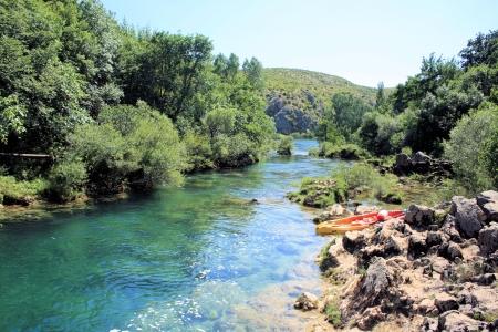 kayaking Zrmanja river near Muskovci, Croatia
