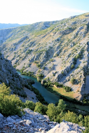 Canyon of Zrmanja river, Croatia photo