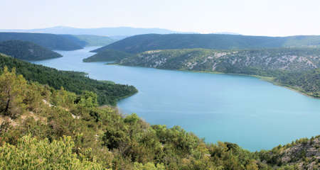 Visovac lake, Krka, Croatia photo