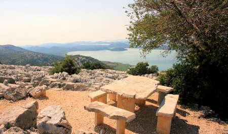 vieuwpoint Kamenjak Lake Vransko, Croatia photo