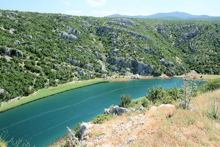 Zrmanja river near Muskovci, Croatia photo