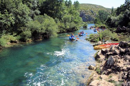 Zrmanja river near Muskovici, Croatia 版權商用圖片