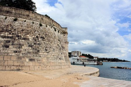 wall of fortress in Zadar, Croatia photo