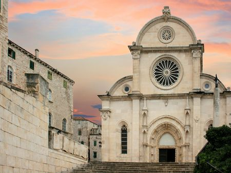 Church in Sibenik, Croatia photo