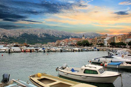 view on Baska, Croatia photo