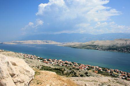 view on the island Pag, Croatia photo