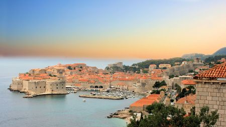 view on old town of Dubrovnik, Croatia photo