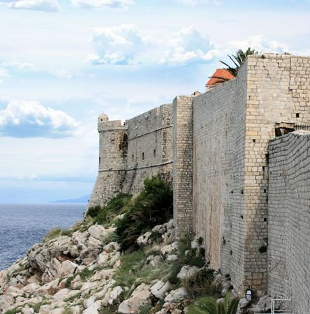 view from defence wall in Dubrovnik, Croatia photo
