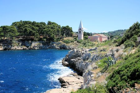 view on Veli Losinj, Croatia photo