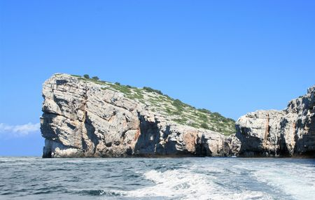cliff in national park Kornati, Croatia photo