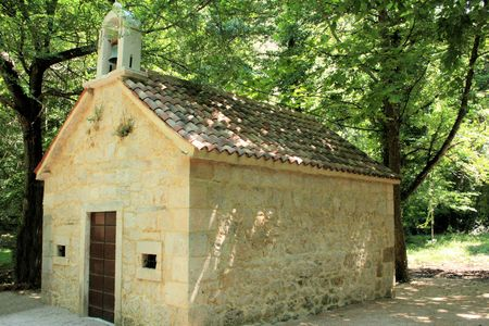 chappel: chappel in Krka National Park, Croatia Stock Photo
