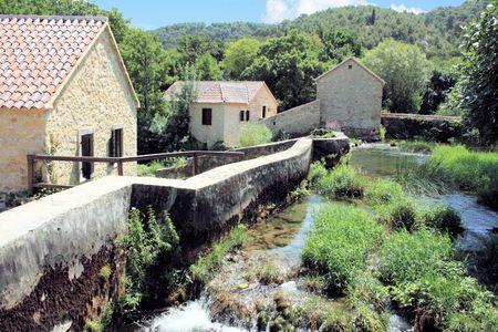 watermill in Krka National Park, Croatia photo