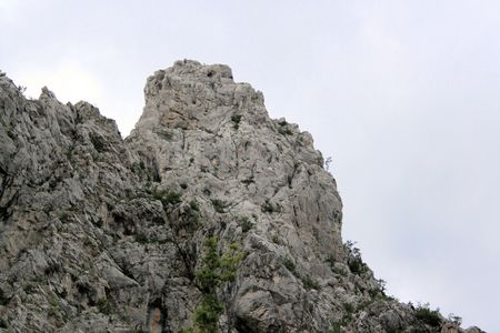 paklenica: view on mountains in national park Paklenica, Croatia Stock Photo