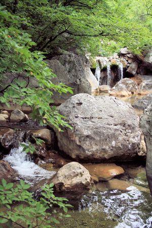 paklenica: mountain river in national park paklenica, Croatia Stock Photo