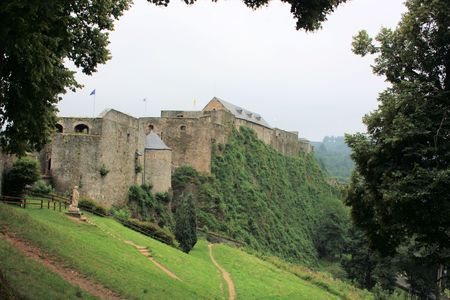view on castle fortress of Bouillon, Belgium