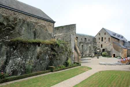 feudalism: between the walls of the castle fortress of Bouillon, Belgium