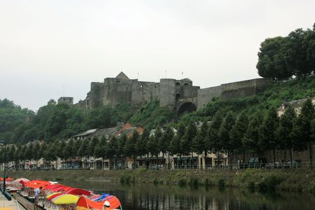 feudalism: view on castle fortress of Bouillon, Belgium