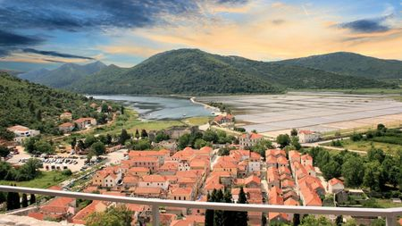 view on Ston, Croatia photo