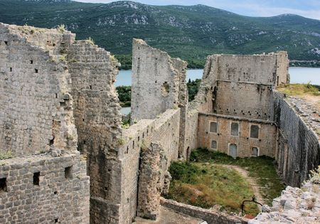 fortress in Ston, Croatia photo
