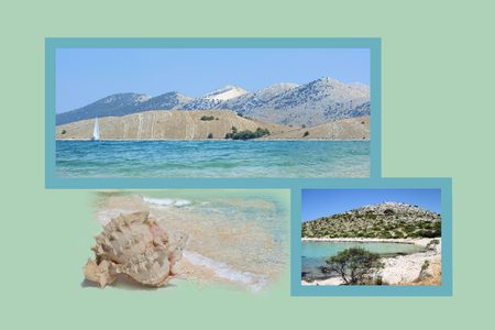 design for postcard, Kornati, Croatia photo