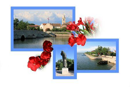 croatia: Design for postcard, Nin, Croatia Stock Photo