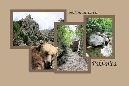 paklenica: Design for postcard, Paklenica, Croatia, with text