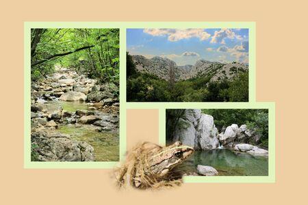 paklenica: Design for postcard, Paklenica, Croatia