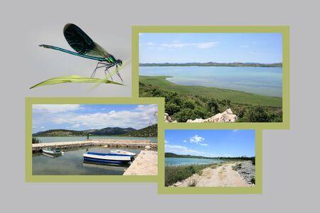combi: Design for postcard, Vransko Jezero