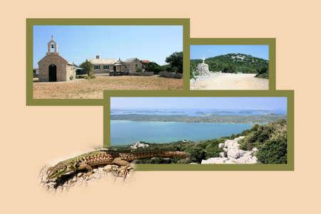 walking path: Design for postcard, Vransko Jezero