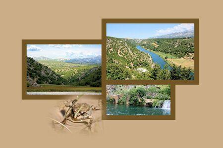 combi: Design for postcard, Zrmanja river inland
