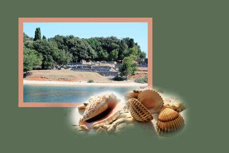 Design for postcard, national park Brioni, Croatia photo