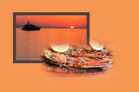 postcard design: Design for postcard, Fazana, Croatia