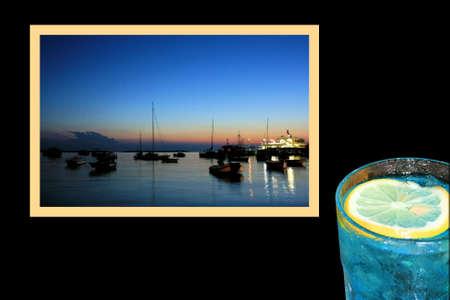 combi: Design for postcard, Fazana, Croatia