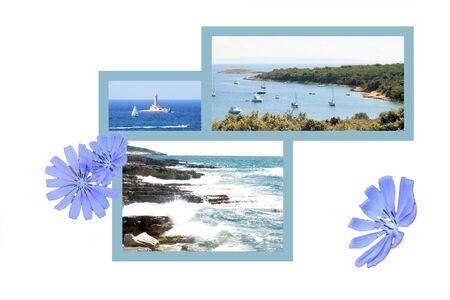 brook: Design for postcard, Kamenjak, Croatia