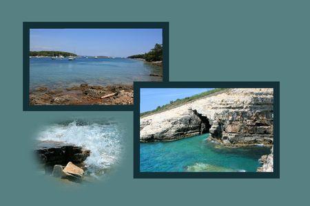 combi: Design for postcard, Kamenjak, Croatia