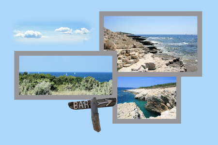 Design for postcard, Kamenjak, Croatia