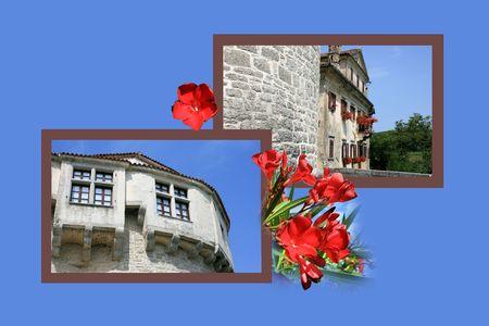 roman empire: Design for postcard, Pazin, Croatia